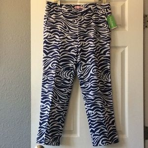 Lilly Pulitzer Elaine cropped pants bright navy